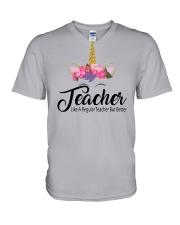 TEACHER LIKE A REGULAR TEACHER BUT BETTER V-Neck T-Shirt thumbnail
