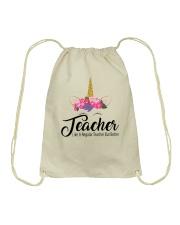 TEACHER LIKE A REGULAR TEACHER BUT BETTER Drawstring Bag thumbnail