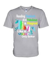 Reading Teachers V-Neck T-Shirt thumbnail