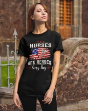 Nurses are heroes every day Classic T-Shirt apparel-classic-tshirt-lifestyle-06
