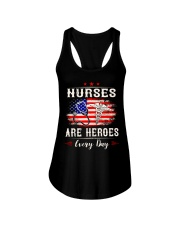 Nurses are heroes every day Ladies Flowy Tank thumbnail