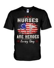 Nurses are heroes every day V-Neck T-Shirt thumbnail