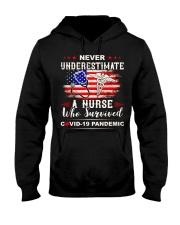 Never Underestimate A Nurse Who Survived Hooded Sweatshirt thumbnail