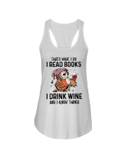 That's what I do I read books Ladies Flowy Tank thumbnail
