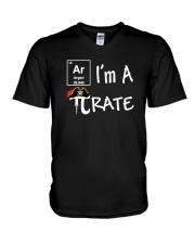 Funny I Am A Pi Rate T-shirt V-Neck T-Shirt thumbnail