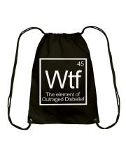 WTF 45 Shirt Drawstring Bag thumbnail