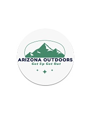 Arizona Outdoors Get Up Get Out Circle Magnet tile