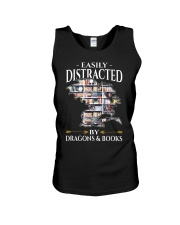 Easily Distracted By Dragons And Books Re Unisex Tank thumbnail