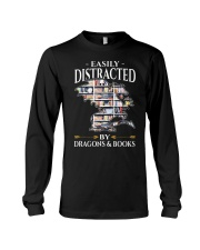 Easily Distracted By Dragons And Books Re Long Sleeve Tee thumbnail