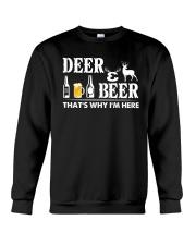 I LOVE DEER AND BEER Crewneck Sweatshirt thumbnail