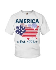 Dogs America Est 1776 Youth T-Shirt thumbnail