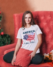 Dogs America Est 1776 Ladies T-Shirt lifestyle-holiday-womenscrewneck-front-2