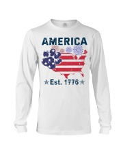 Dogs America Est 1776 Long Sleeve Tee tile