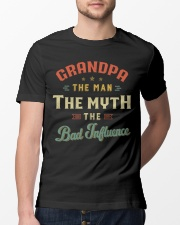 Grandpa The Man The Myth The Bad Influence Classic T-Shirt lifestyle-mens-crewneck-front-13