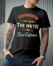 Grandpa The Man The Myth The Bad Influence Classic T-Shirt lifestyle-mens-crewneck-front-6