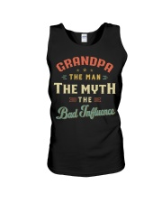 Grandpa The Man The Myth The Bad Influence Unisex Tank tile