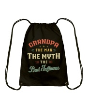 Grandpa The Man The Myth The Bad Influence Drawstring Bag tile