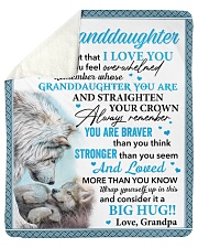 "Wolf Never 4get I Love U Grandpa To Granddaughter  Sherpa Fleece Blanket - 50"" x 60"" thumbnail"