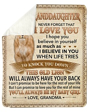 """Never Forget That I Love You-Young Lion GM to GD Sherpa Fleece Blanket - 50"""" x 60"""" thumbnail"""