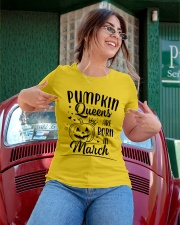 Pumpkin Queens Are Born In March Ladies T-Shirt apparel-ladies-t-shirt-lifestyle-01