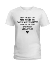 Happy Fathers Day From The Kid Ladies T-Shirt thumbnail