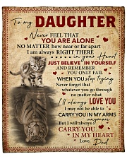 """Never Feel That U Are Alone Dad To Daughter Fleece Blanket - 50"""" x 60"""" front"""