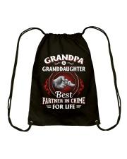 Grandpa And Granddaughter Best Partner In Crime Drawstring Bag thumbnail