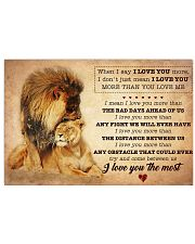 Husband Lion I love You More Than You Love Me 17x11 Poster front