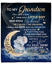 """Moon Elephant Once Upon A Time Grandma To Grandson Fleece Blanket - 50"""" x 60"""" front"""
