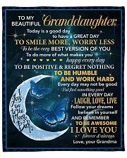 """Granddaughter To Be The Very Best Version Of You Fleece Blanket - 50"""" x 60"""" front"""