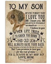Never Forget That I Love You Lion Mom To Son 11x17 Poster thumbnail