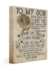 Never Forget That I Love You Lion Mom To Son 11x14 Gallery Wrapped Canvas Prints front