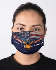 To Dad Eagle USAF Retired Cloth face mask aos-face-mask-lifestyle-01