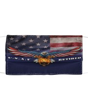To Dad Eagle USAF Retired Cloth face mask front