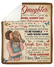 """Today Is A Good Day Have Great Day Mom To Daughter Sherpa Fleece Blanket - 50"""" x 60"""" thumbnail"""