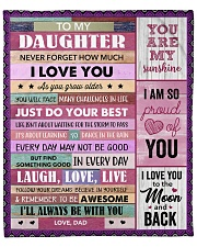 """Never Forget How Much I Love U Dad To Daughter Fleece Blanket - 50"""" x 60"""" front"""