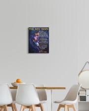 Never Forget That I Love You Lion Mom To Son 11x14 Gallery Wrapped Canvas Prints aos-canvas-pgw-11x14-lifestyle-front-05