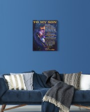 Never Forget That I Love You Lion Mom To Son 11x14 Gallery Wrapped Canvas Prints aos-canvas-pgw-11x14-lifestyle-front-06