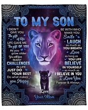 """I Didn't Give U The Gift Of Life Lion Mom To Son Fleece Blanket - 50"""" x 60"""" front"""