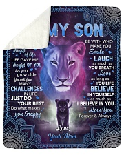 I Didn't Give U The Gift Of Life Lion Mom To Son Sherpa Fleece Blanket tile