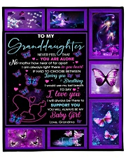 """GD Butterfly I'd Use My Last Breath To Say I LoveU Fleece Blanket - 50"""" x 60"""" front"""