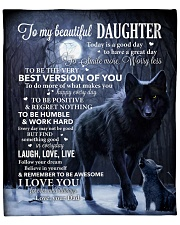 """Lion - Today Is A Good Day - Dad-To-Daughter Fleece Blanket - 50"""" x 60"""" front"""