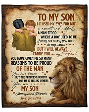 """I Close My Eyes For But A Moment Lion Dad To Son Fleece Blanket - 50"""" x 60"""" front"""