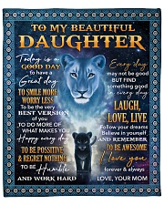 """Lion - Today Is A Good Day Mom-To-Daughter Fleece Blanket - 50"""" x 60"""" front"""