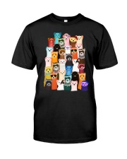 Otters colorful art Classic T-Shirt thumbnail