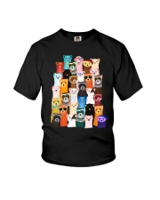 Otters colorful art Youth T-Shirt thumbnail