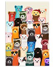 Otters colorful art 11x17 Poster thumbnail