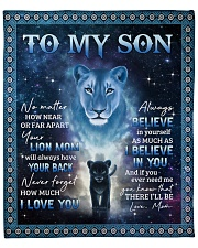 """Lion-I Believe In You - Mom-To-Son Fleece Blanket - 50"""" x 60"""" front"""