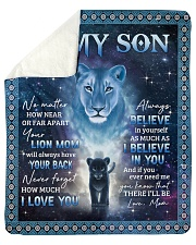 Lion-I Believe In You - Mom-To-Son Sherpa Fleece Blanket tile