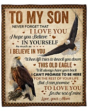 """Never Forget That I Love You Eagle Mom To Son Fleece Blanket - 50"""" x 60"""" front"""